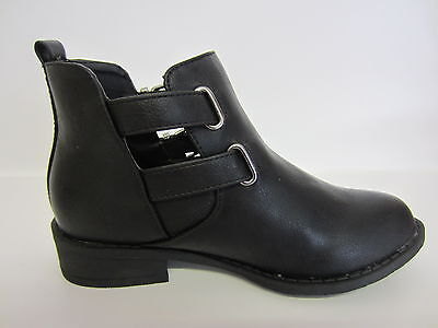 Spot On Girls Ankle Boot H5035 Black or Burgundy UK Size 10 to 3 (KR)