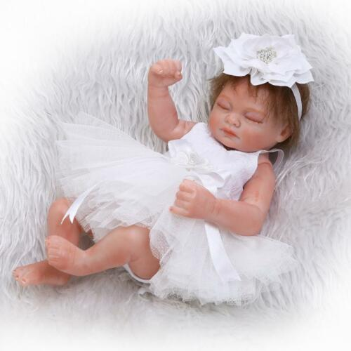 11/'/' Realistic Reborn Full Body Silicone Biracial Doll Boy Girl Baby Dolls Gift