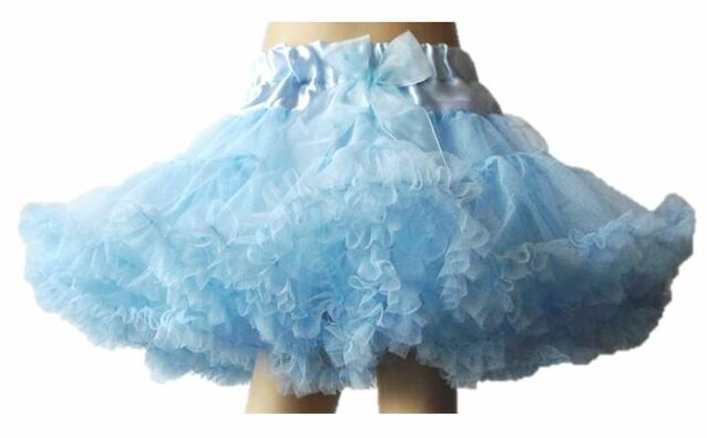 NEW 3 LAYERS KIDS GIRL TUTU SKIRT DRESS PETTISKIRT FLUFFY RUFFLED DANCEWEAR 1-8Y
