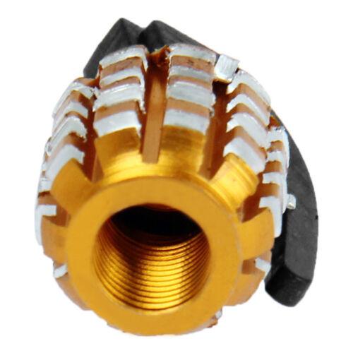 4 piezas de oro Granada Granada válvula tapas para coches automóviles camiones motocicleta nuevo