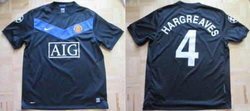 Owen Hargreaves #4 MANCHESTER UNITED Champions League shirt NIKE 200910 SIZE L