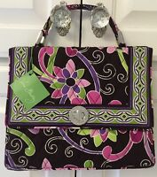 Vera Bradley Julia Handbag Purse Retired Purple Punch Crossbody Bag