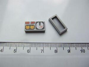 "2 x Lego grey dials Flat Tile, size 1X2 /""No. 101/"" Parts /& Pieces – 4227776"