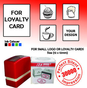 Personalised self inking rubber stamp12mm x 12mm k small logo or image is loading personalised self inking rubber stamp 12mm x 12mm reheart Choice Image