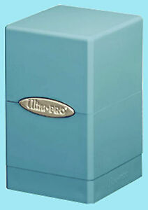 ULTRA-PRO-SATIN-TOWER-LIGHT-BLUE-DECK-BOX-New-Card-Dice-Compartment-Storage-MTG