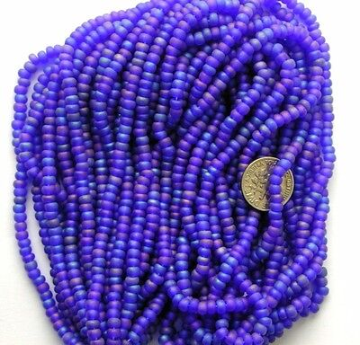 Sincero Vintage Púrpura Luminoso Cristal Checo 8/0 Esmerilado Cuentas Enorme Madeja Embalaje Fuerte