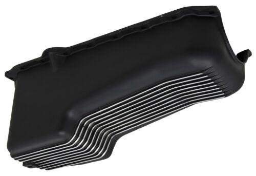 Aluminum BLACK Chevy Small Block chevrolet Oil Pan finned V8  305 350 86 up