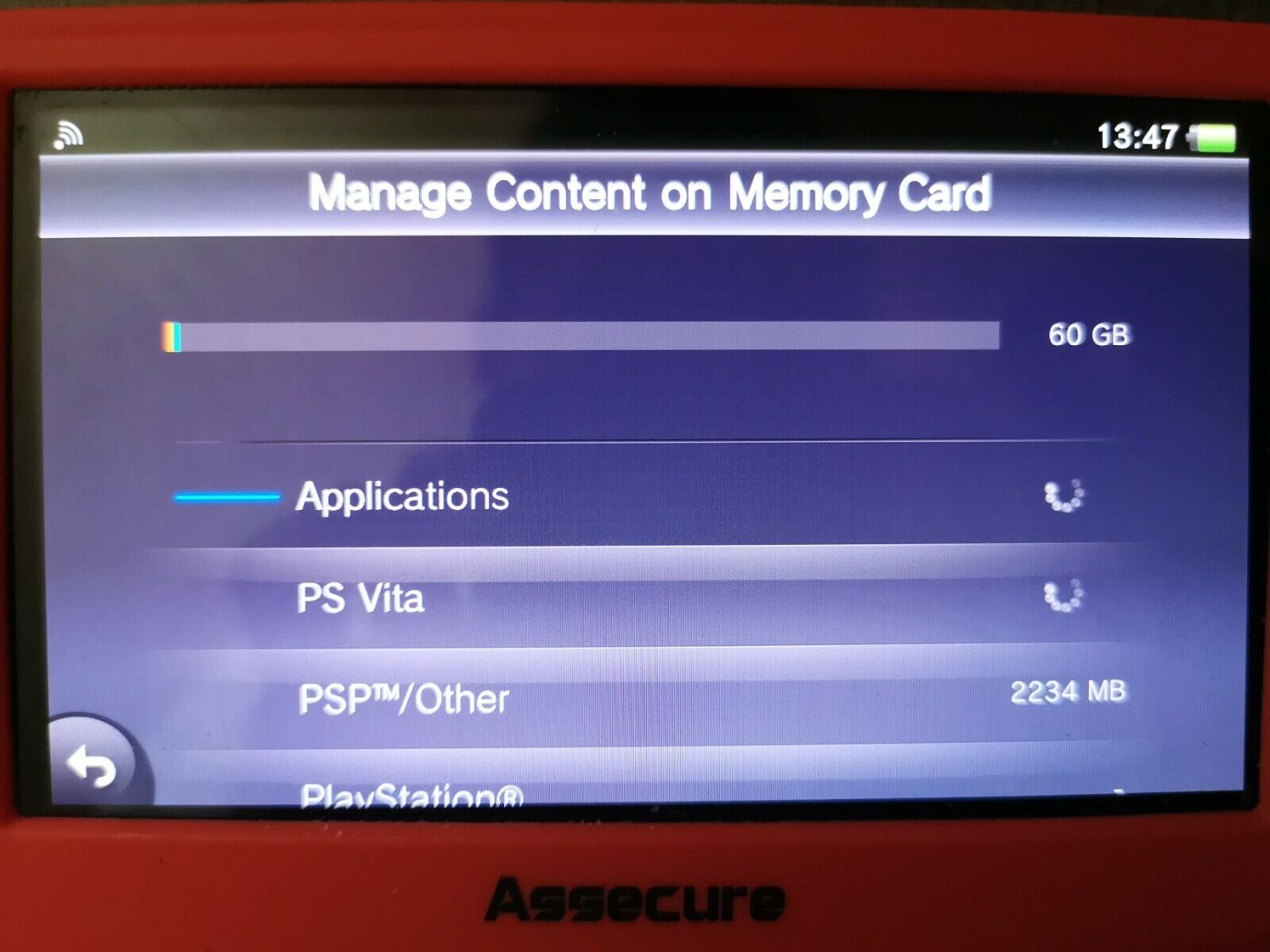 Genuine Sony PlayStation (PS VITA / TV) PSV Official 64gb Memory Card - Working