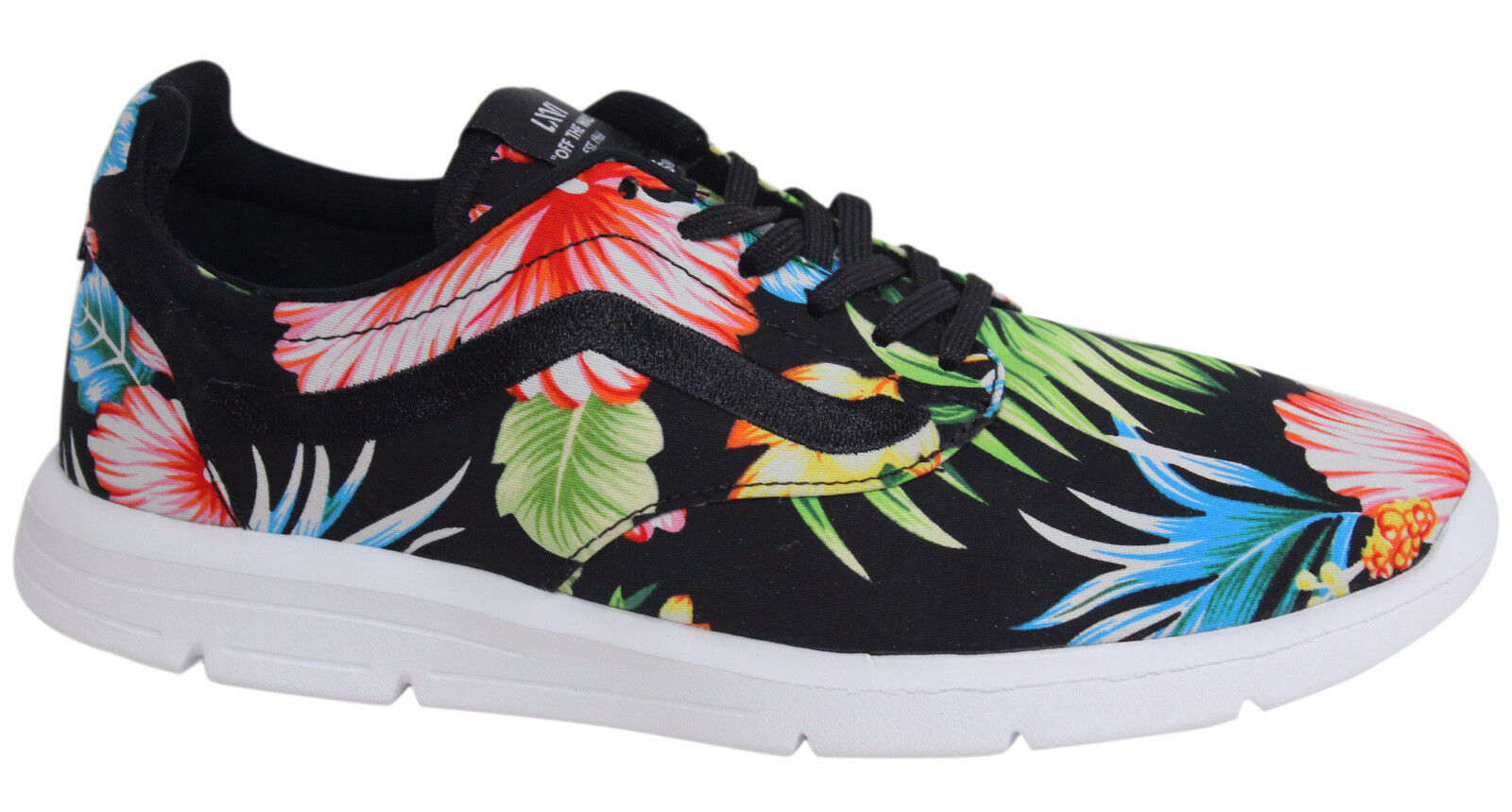 Vans Iso 1.5 Lace Up Mens Black Floral Patterned Trainers shoes XB8HEY D35