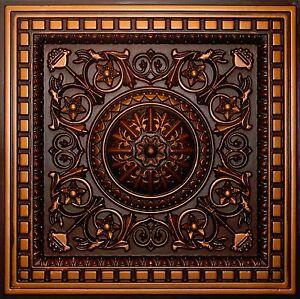 image is loading antique copper d215 pvc ceiling tiles tin look - Antique Ceiling Tiles
