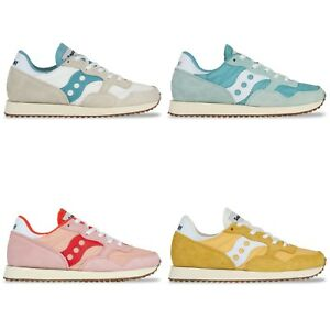 Details about Saucony Originals Saucony DXN Vintage Trainers Yellow, Pink, White, Aqua