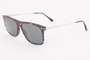 468ed4e99557 Tom Ford MAX Dark Havana   Green Polarized Sunglasses TF588 52R MAX ...
