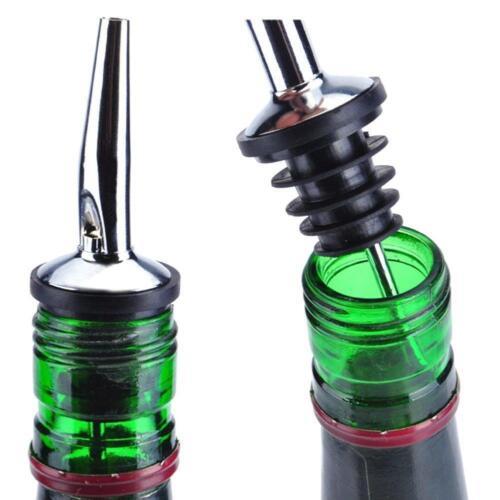 Steel Free-Flow Pourers x12 Spirit//boissons//huile//Bouteille//Vinaigre//Alcool Distributeurs