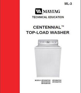 Maytag Centennial Washer Service Repair Manual Ebay