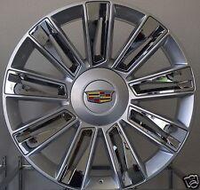 """26"""" Cadillac Escalade Rims Chrome/Silver Platinum ESV EXT 2017 Wheels"""