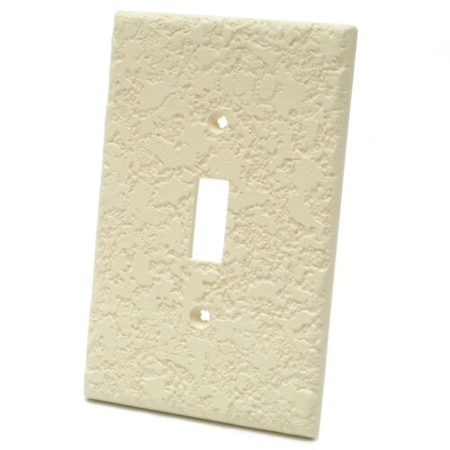 Knock Down RPP Devices KD1 Textured Paintable Toggle Switch Wall Plate 40pcs