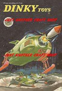 Dinky-Toys-351-UFO-Interceptor-A3-tamano-poster-ANUNCIO-FOLLETO-signo-Gerry-Anderson