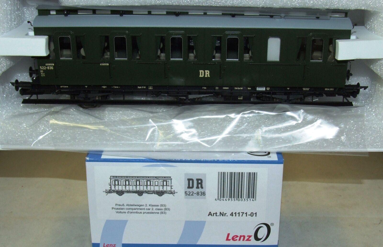 servicio considerado Lenz 41171-01 Escala 0 Prusiano Vagón de Compartimentos Modelo B3 B3 B3 o Bremserh Dr  Sin impuestos