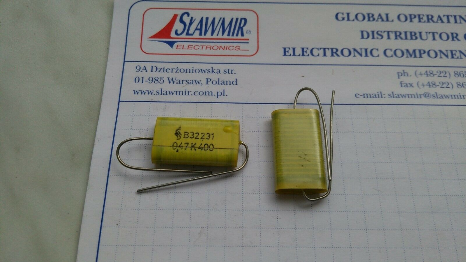 Siemens 0.47uf 470nf 400v Film Capacitor Capacitor Axial f Tube Amp 1x Org