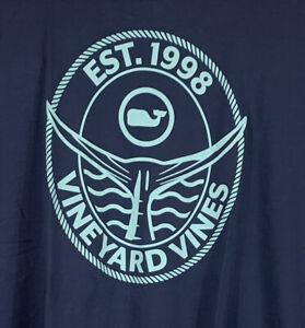 VINEYARD-VINES-Men-s-Pocket-Tshirt-L-S-Tuna-Tail-Sz-2XL-Blue-NEW-With-TAGS