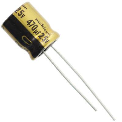 Nichicon UVZ VZ electrolytic capacitor 470 uF @ 35V 10mm x 16mm