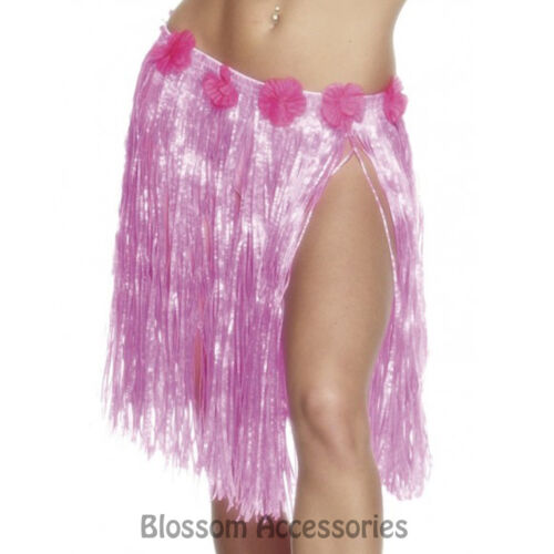 A450 Hawaiian Pink Hula Skirt Luau Beach Tropical Costume Accessory