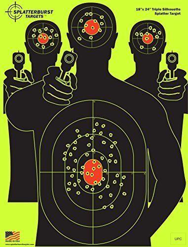 Triple Silhouette Target Shooting for Rifle/& BB Gun 25 Pack
