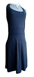 Lacoste Womens Sleeveless Racerback  Black Aline Dress Dropped Waist Size Small