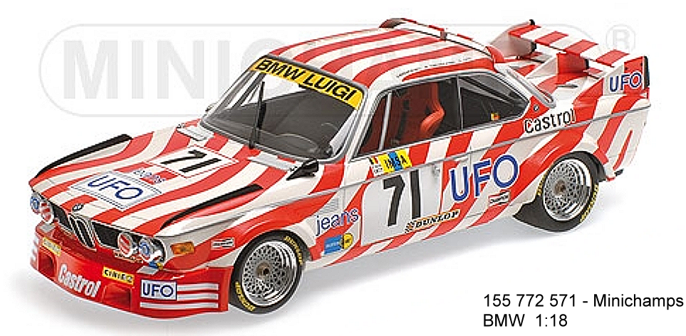 155772571 - bmw 3.0 csl minichamps - team luigi racing n 71 24 h le - mans - 1977