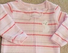 SWEET BABY CARTER'S 3 MONTH TERRY CLOTH STRIPED KITTY FOOTED SLEEP N PLAY OUTFIT