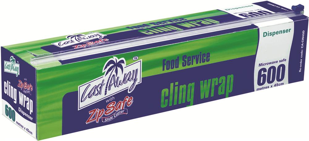 Cast Away Away Away CLING WRAP DISPENSER 600mx45cm Microwave Safe Australian Made ba8ac6