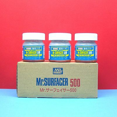 Free Shipping! - Set of 3 bottles Mr. Hobby #SF-285 Mr. Surfacer 500 (Primer)