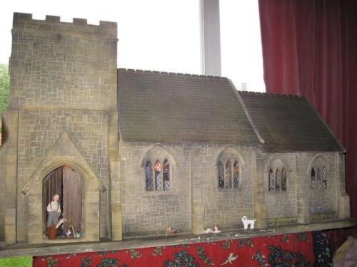 Casa De Muñecas Escala 1//12 Kit de la Iglesia de pueblo incluso extensión DHD039EX