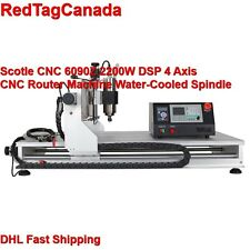 Scotle CNC 6090Z DSP 2200W 4 Axis Spindle Router Water-Cooled Spindle machine