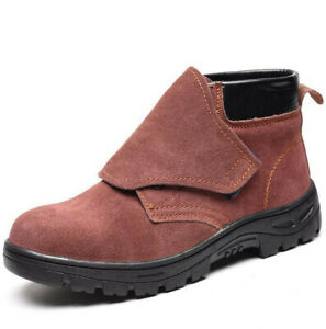 ab288f2ef67 Details about Men's Leather Safety Shoes Chukka Welder Shoes Steel Toe  Welding Boots Work