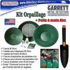 Kit-Orpaillage-Garrett-Pelle-Abs-Recherche-d-039-Or-en-rivieres-Gold-Pan