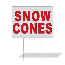 Weatherproof Yard Sign Snow Cones Red Food Bar Restaurant Truck B Lawn Garden