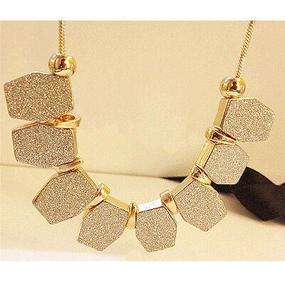 Women Fashion Charm Pendant Chunky Choker Collar Statement Bib Necklace Jewelry