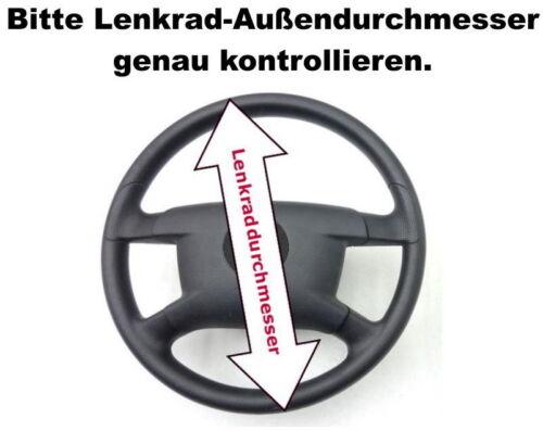 Lenkradschoner ECHTES LEDER LKW Ø 44-46 FADEN BLAU Lenkradbezug Lenkradhülle