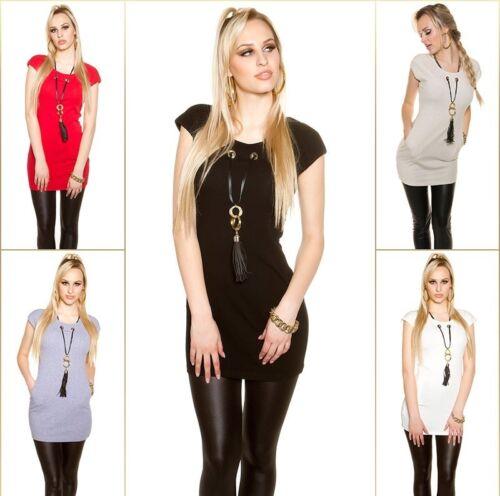 abnehmbarer Kette Longshirt  Shirt Top Minikleid Kleid Longshirt m