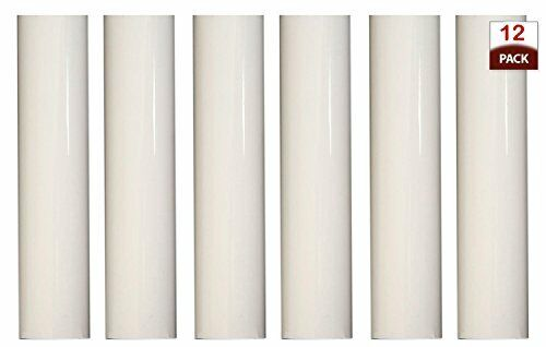 Creative Hobbies 1751 Set of 12 4 Inch Tall White Plastic Candle Covers Sleeves Chandelier Socket Covers ~Candelabra Base