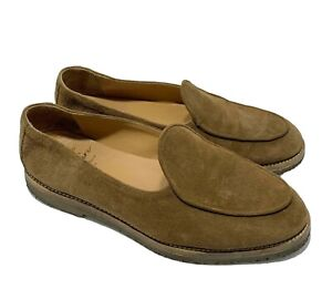 JACQUES SOLOVIERE MEN'S SUEDE TAN 'ALEXS BROWN' LOAFERS, 42, $635