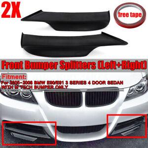 For-BMW-E90-E91-M-Tech-05-08-Unpanited-Black-Front-Bumper-Splitter-Spoiler-Lip