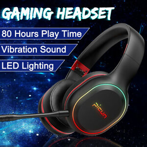 Led Bluetooth Wireless Gaming Headset Headphones Earphones Mic For Pc Cell Phone Ebay