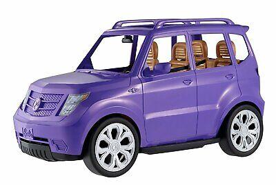 Barbie Suv Auto Giocattolo Veicolo Glam Design Viola Quattro Sedili Cinture Realistico Touch-mostra Il Titolo Originale Sconto Del 50
