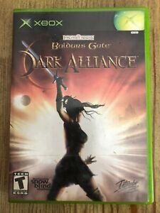 Baldur-s-Gate-Dark-Alliance-Microsoft-Xbox-Complete-W-box-amp-Manual