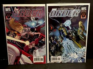 THE-ORDER-8-9-1st-Appearance-EZEKIEL-STANE-Iron-Man-Marvel-Comics-Lot-2007-FN-VF