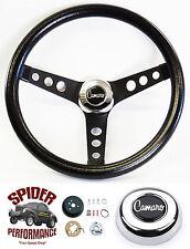 """1969-1994 Camaro steering wheel CAMARO CLASSIC BLACK 13 1/2"""" Grant"""