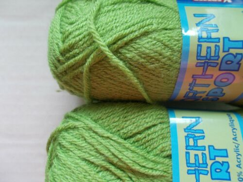 170 yds each Kertzer Northern Sport yarn lot of 2 Leaf Green