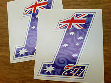 CASEY STONER 27 No. 1  Motorcycle Fairing 2012 Stickers 2 off 120mm